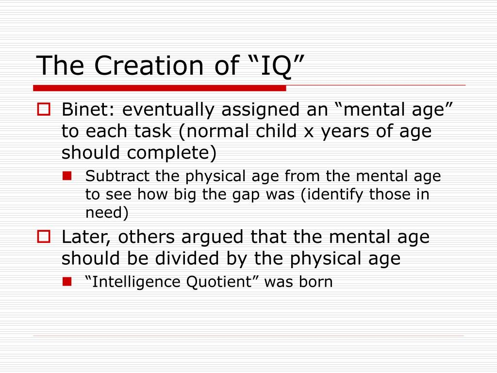 "The Creation of ""IQ"""