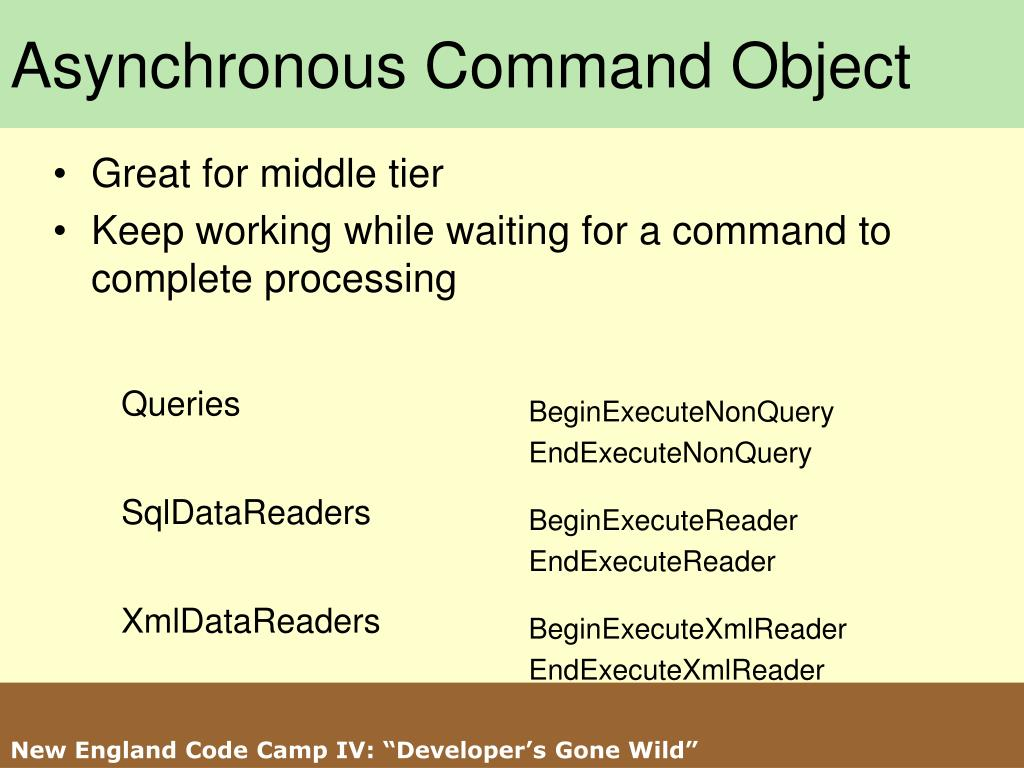 Asynchronous Command Object