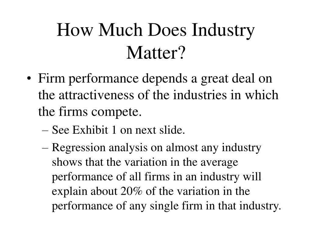 How Much Does Industry Matter?