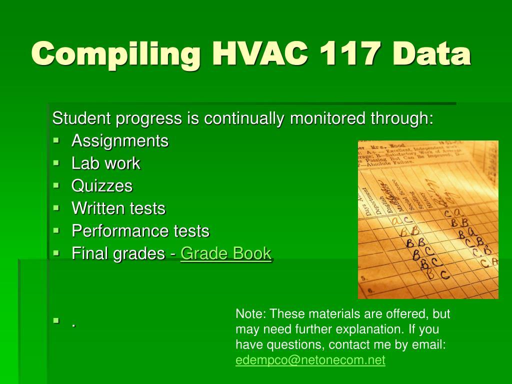 Compiling HVAC 117 Data