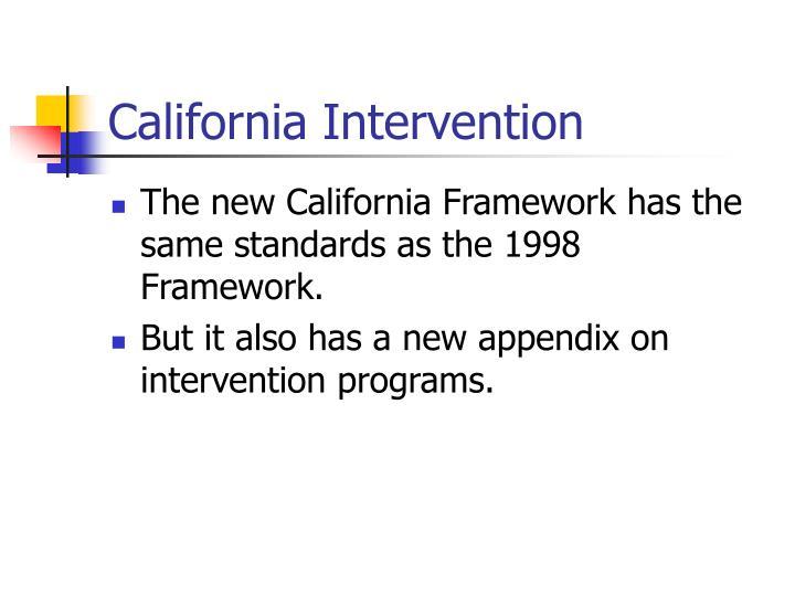 California Intervention