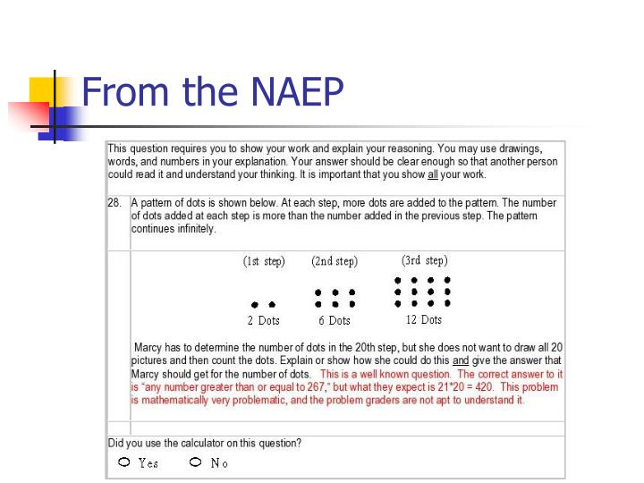 From the NAEP