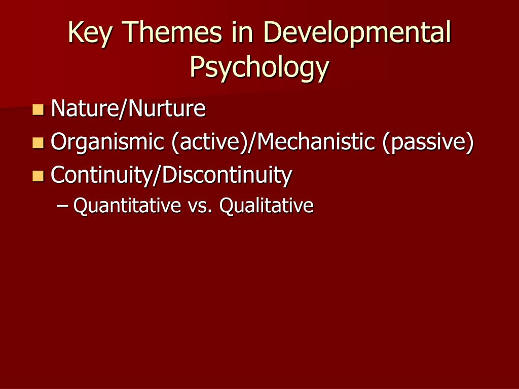 Developmental Psychology Essay