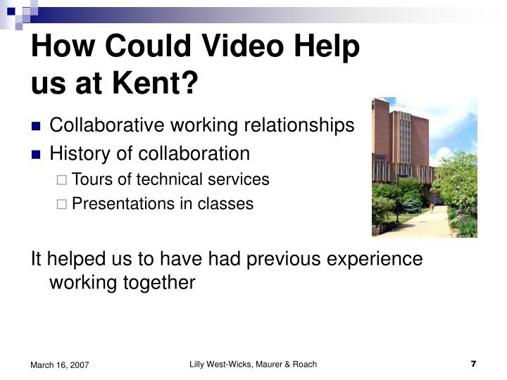 How Could Video Help