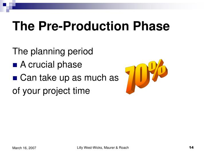 The Pre-Production Phase