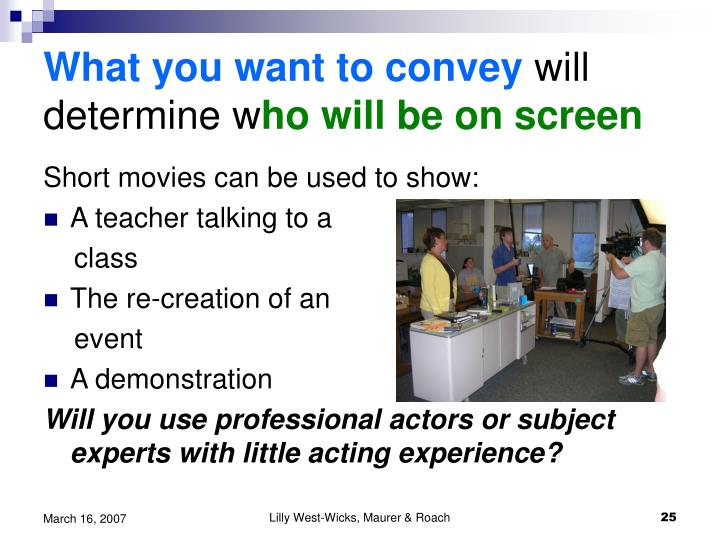 What you want to convey