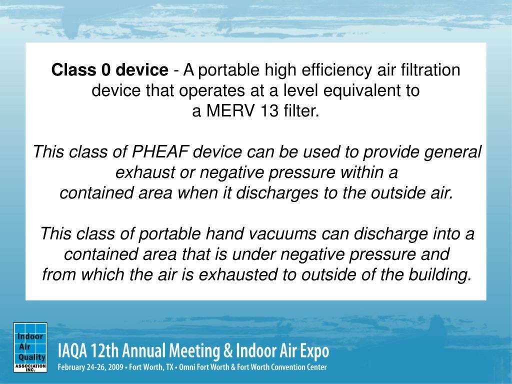 Class 0 device