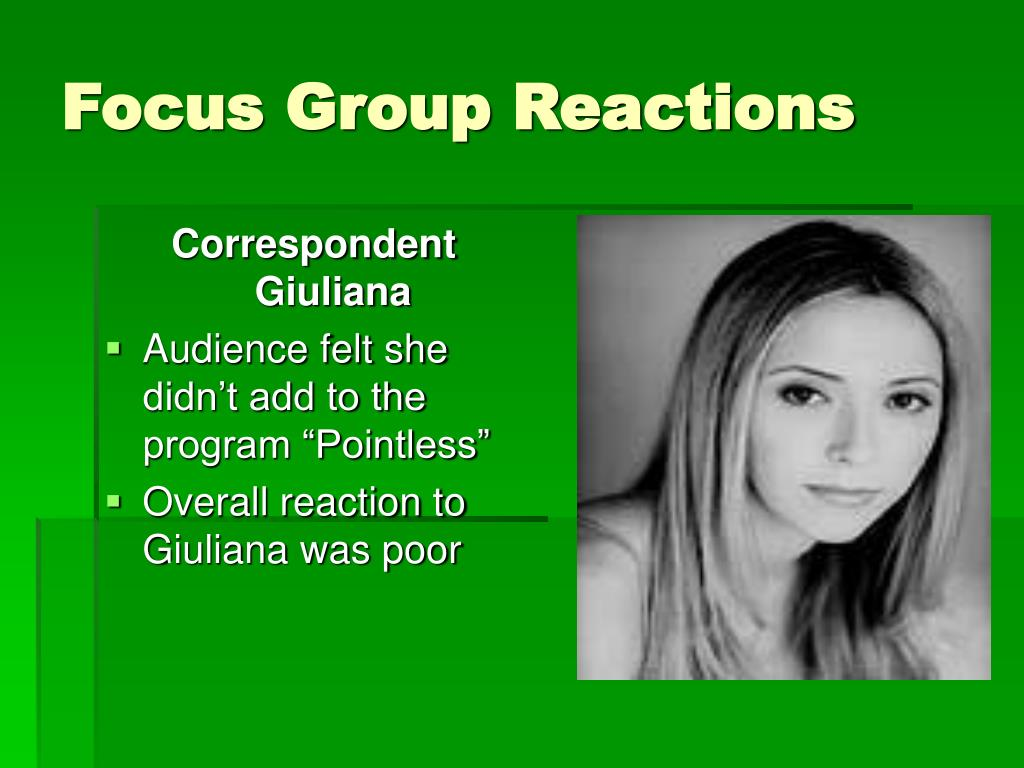 Focus Group Reactions