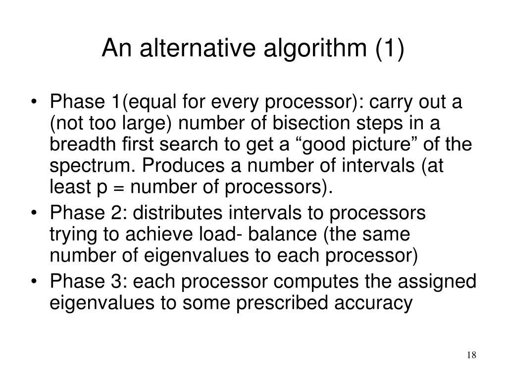 An alternative algorithm (1)