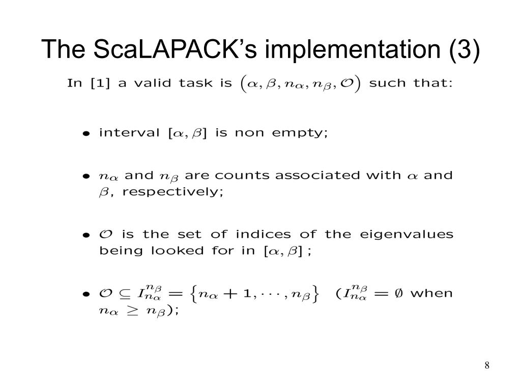 The ScaLAPACK's implementation (3)