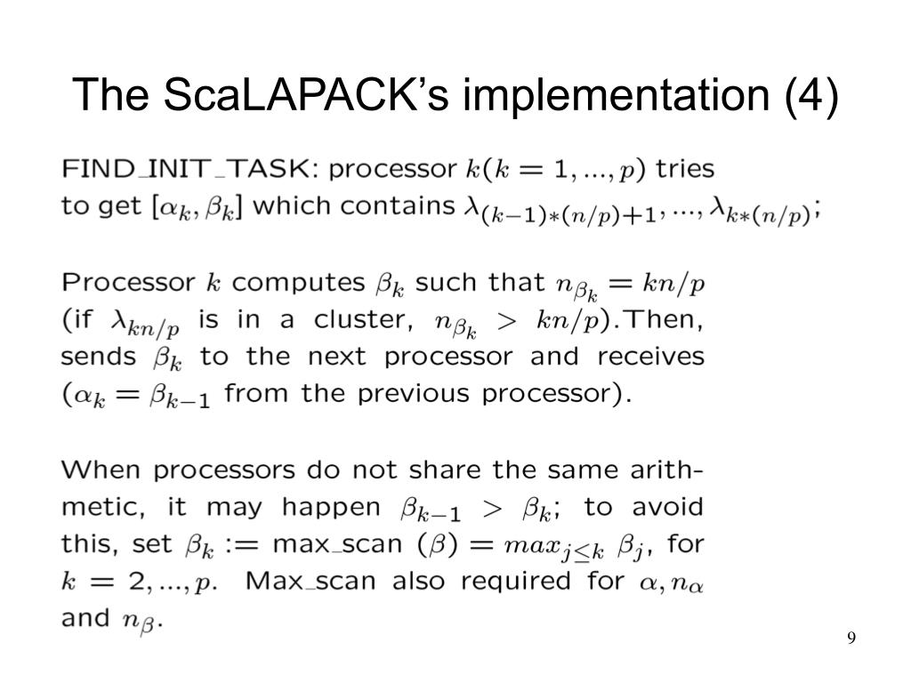 The ScaLAPACK's implementation (4)