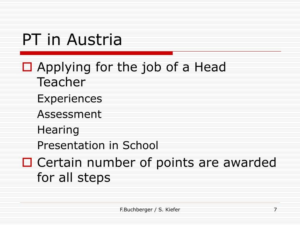 PT in Austria