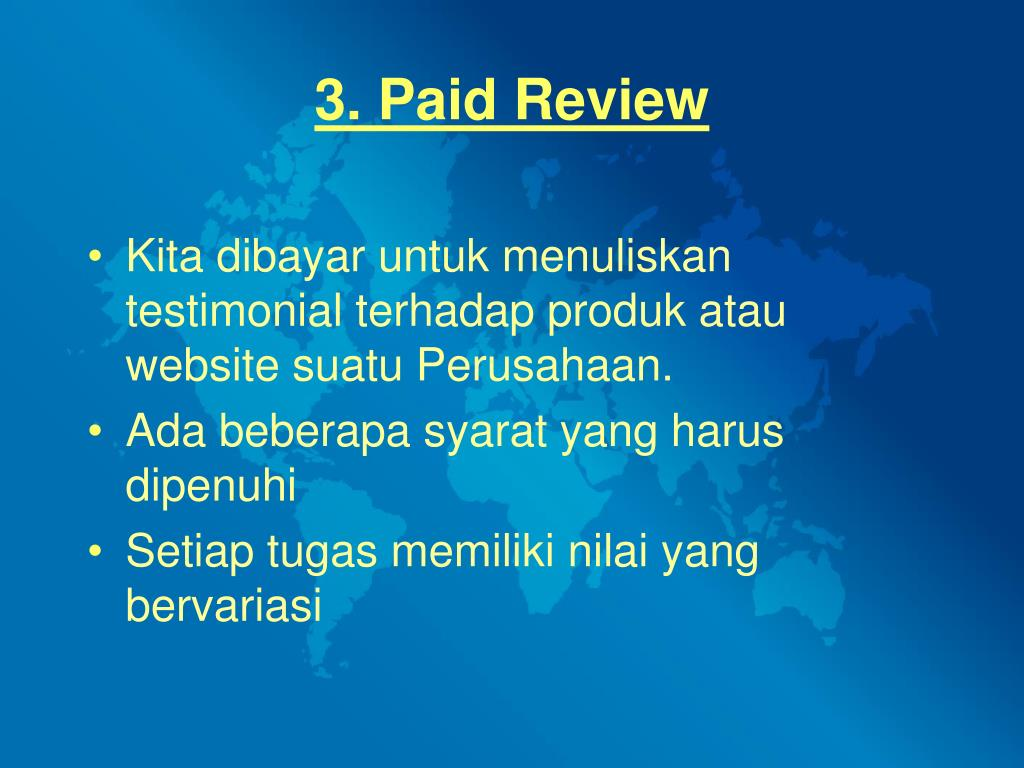 3. Paid Review