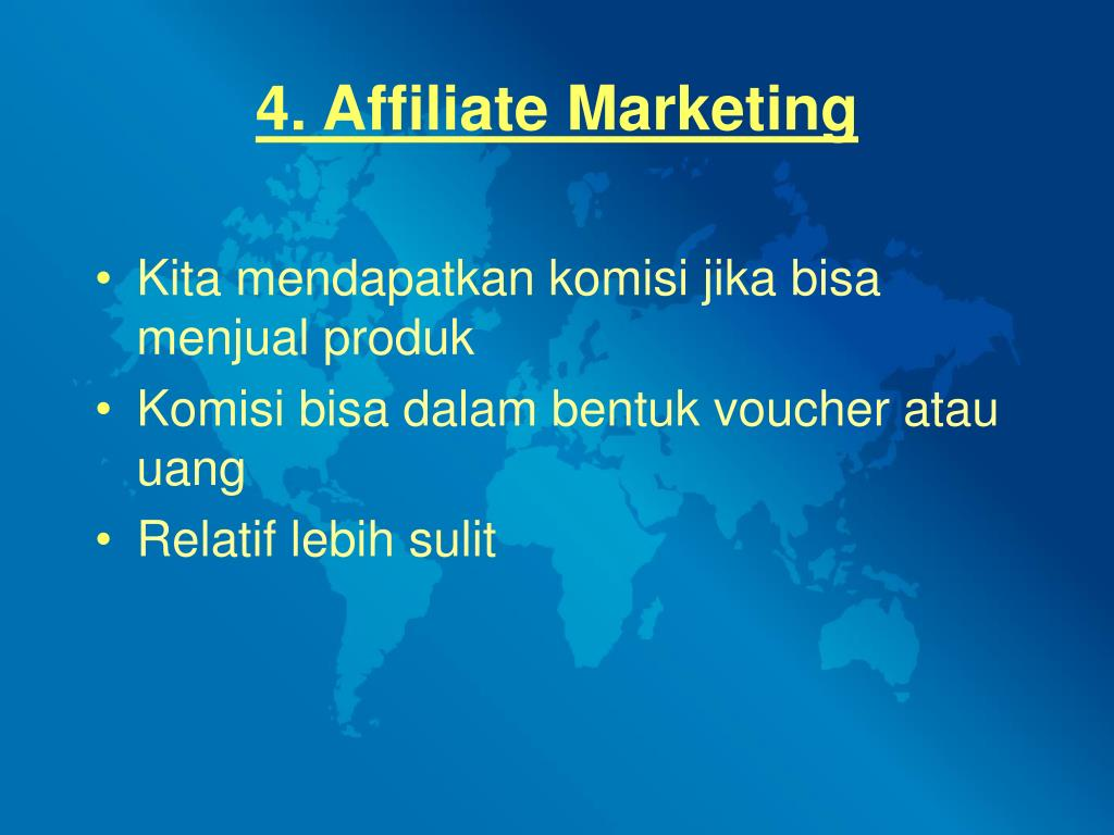 4. Affiliate Marketing