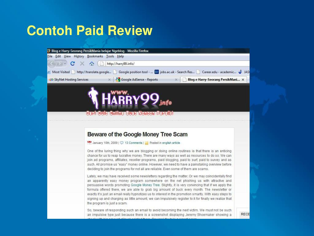 Contoh Paid Review