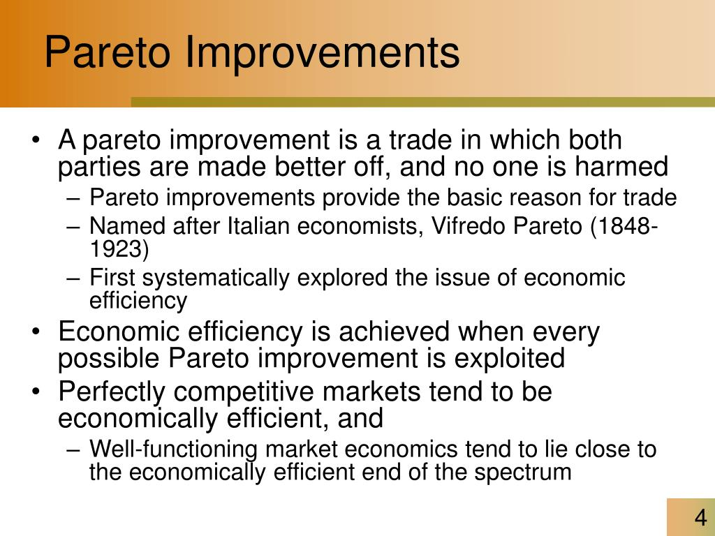 Pareto Improvements