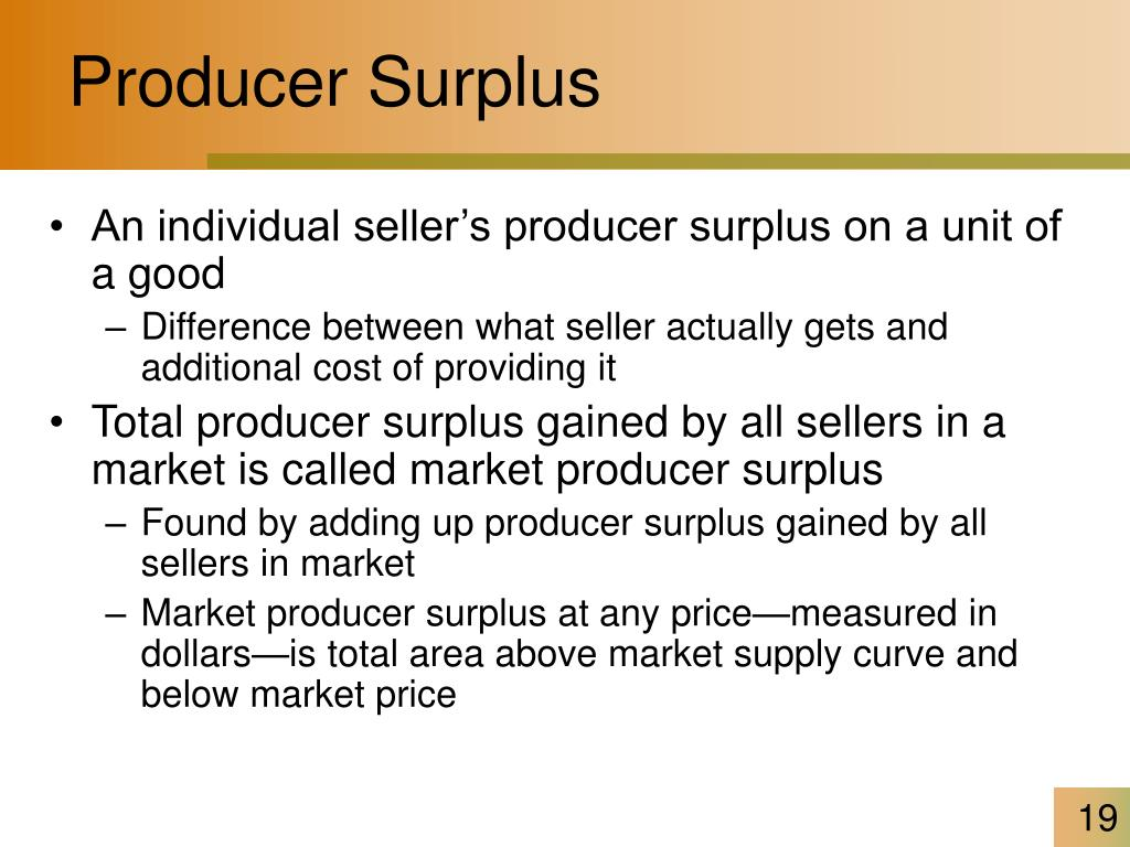 Producer Surplus