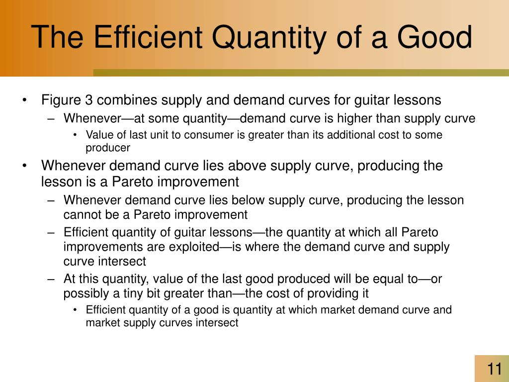The Efficient Quantity of a Good
