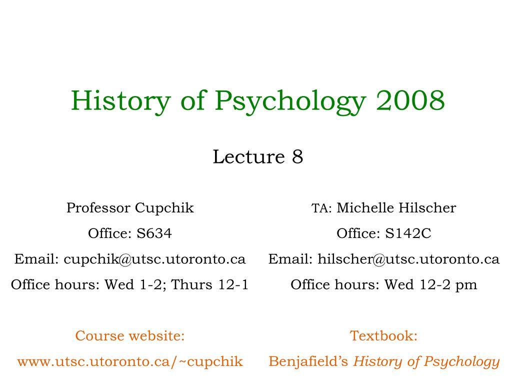 History of Psychology 2008