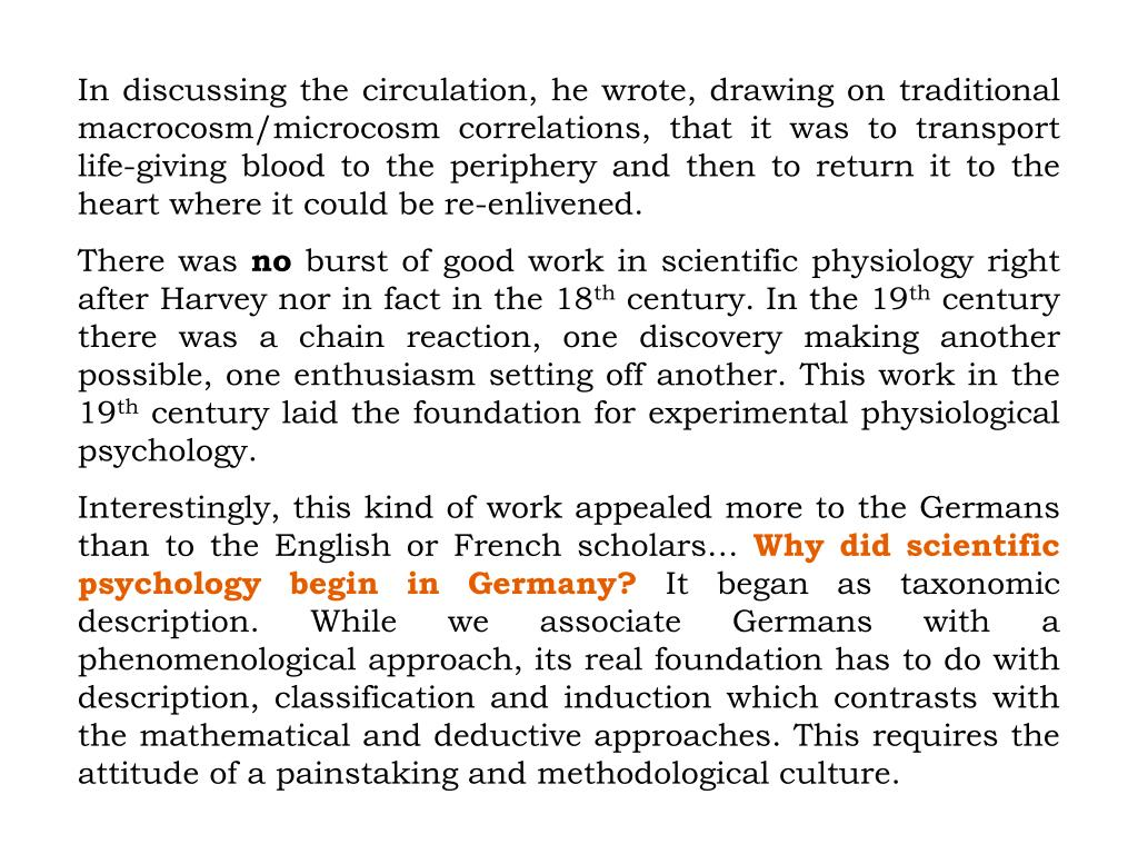 In discussing the circulation, he wrote, drawing on traditional macrocosm/microcosm correlations, that it was to transport life-giving blood to the periphery and then to return it to the heart where it could be re-enlivened.