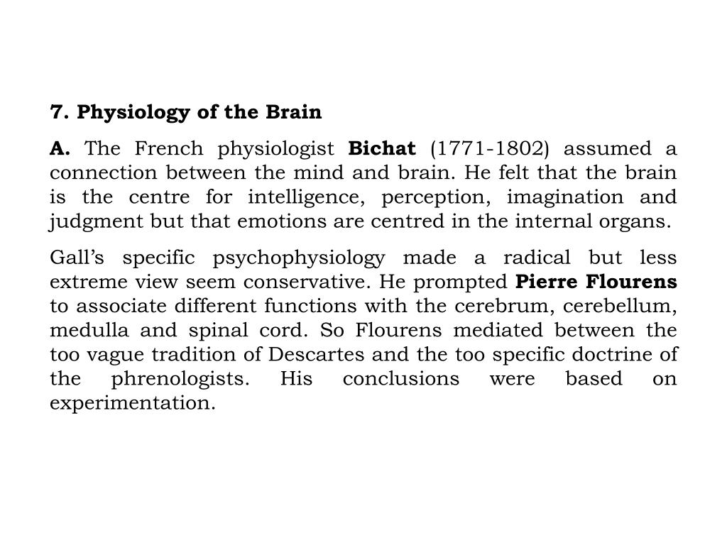 7. Physiology of the Brain