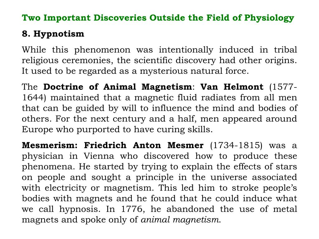 Two Important Discoveries Outside the Field of Physiology