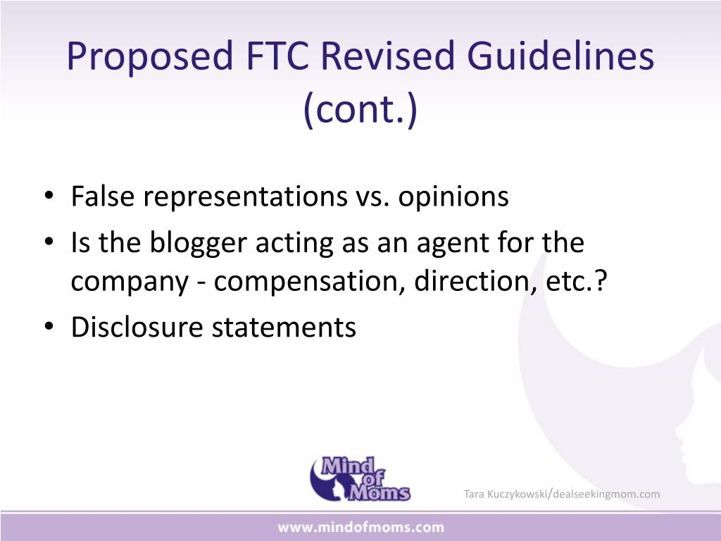 Proposed FTC Revised Guidelines (cont.)