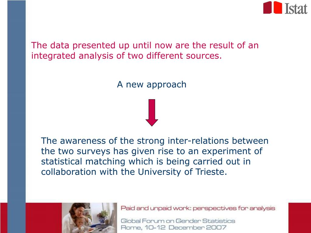 The data presented up until now are the result of an integrated analysis of two different sources.