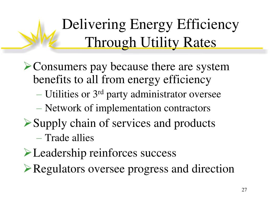 Delivering Energy Efficiency Through Utility Rates