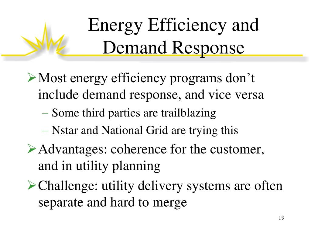 Energy Efficiency and Demand Response