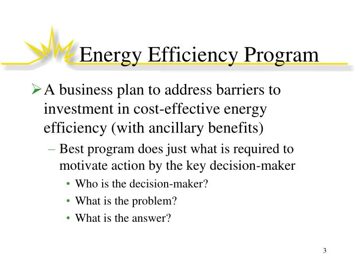 Energy efficiency program