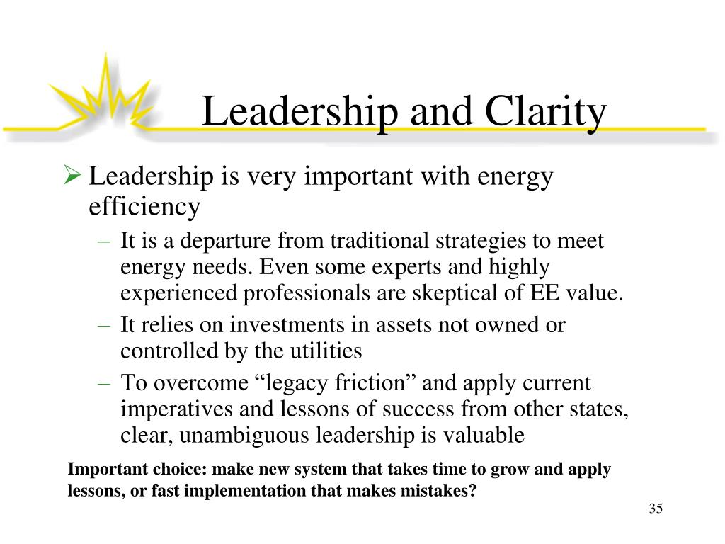 Leadership and Clarity