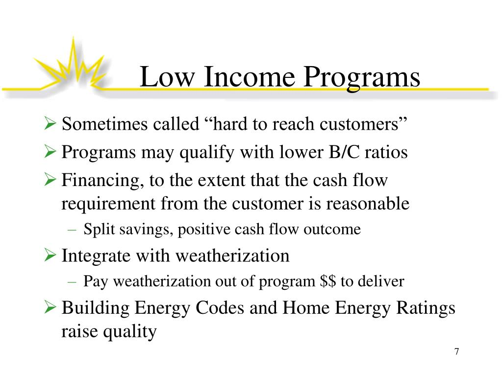 Low Income Programs