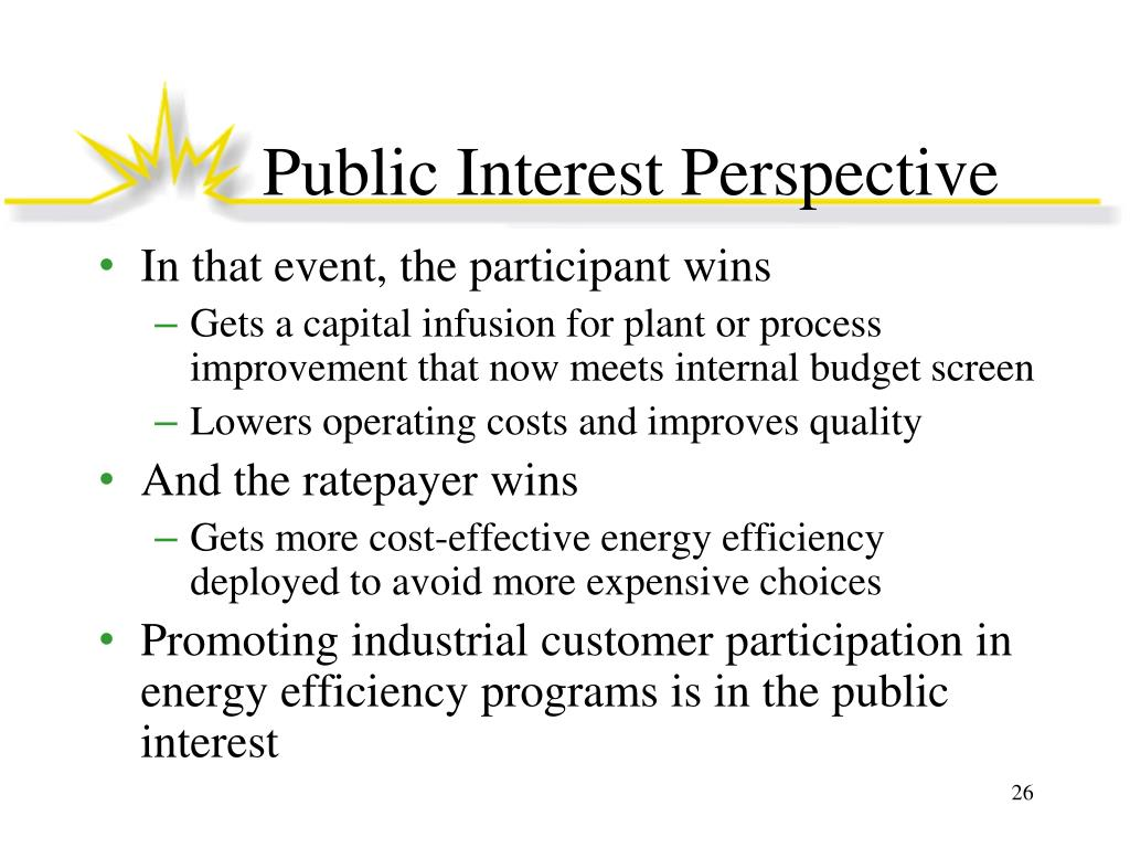 Public Interest Perspective
