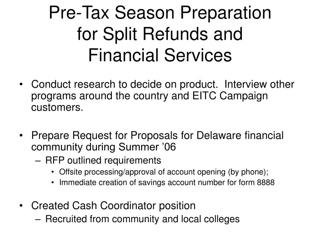 Pre-Tax Season Preparation