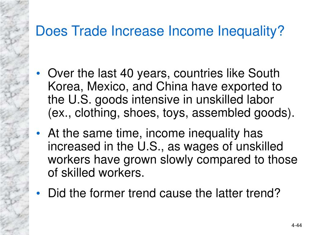 Does Trade Increase Income Inequality?