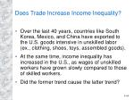 does trade increase income inequality