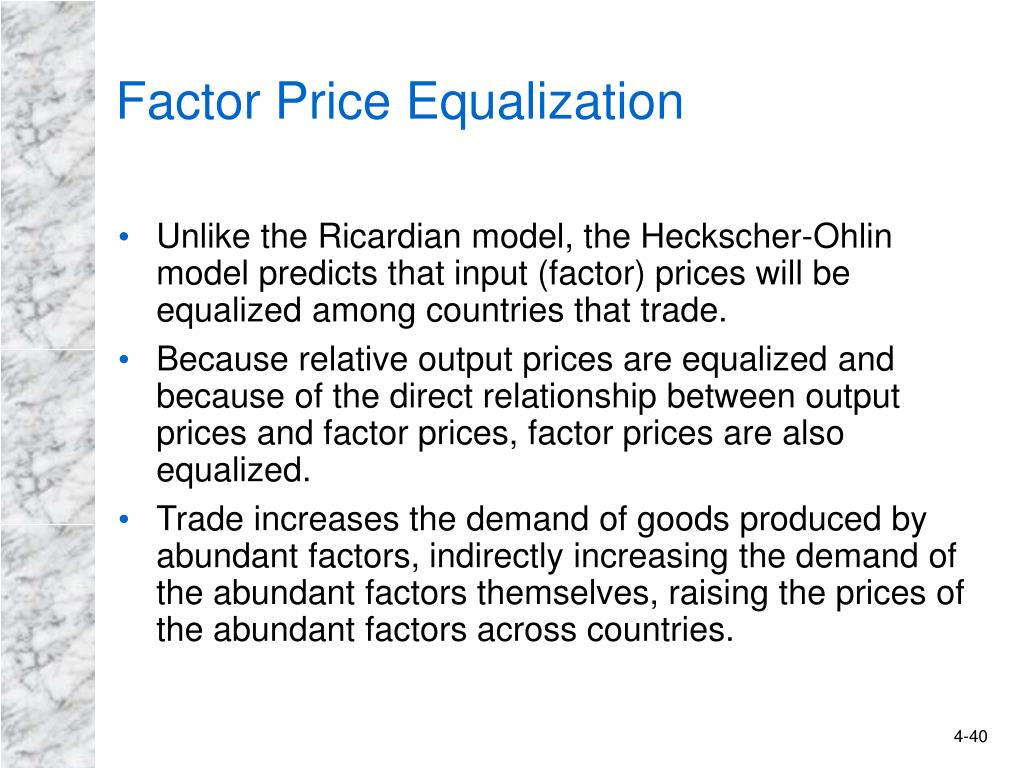 Factor Price Equalization