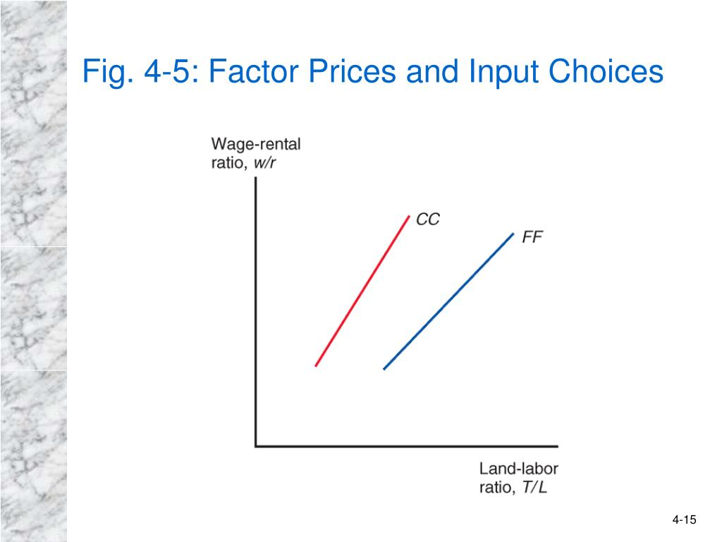 Fig. 4-5: Factor Prices and Input Choices