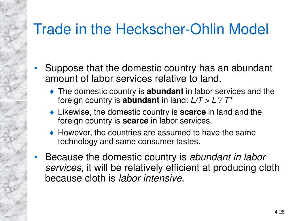 Trade in the Heckscher-Ohlin Model