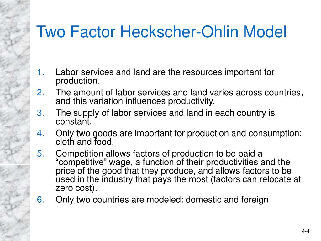 Two Factor Heckscher-Ohlin Model