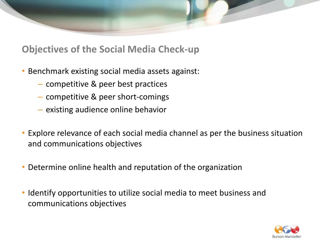 Objectives of the Social Media Check-up