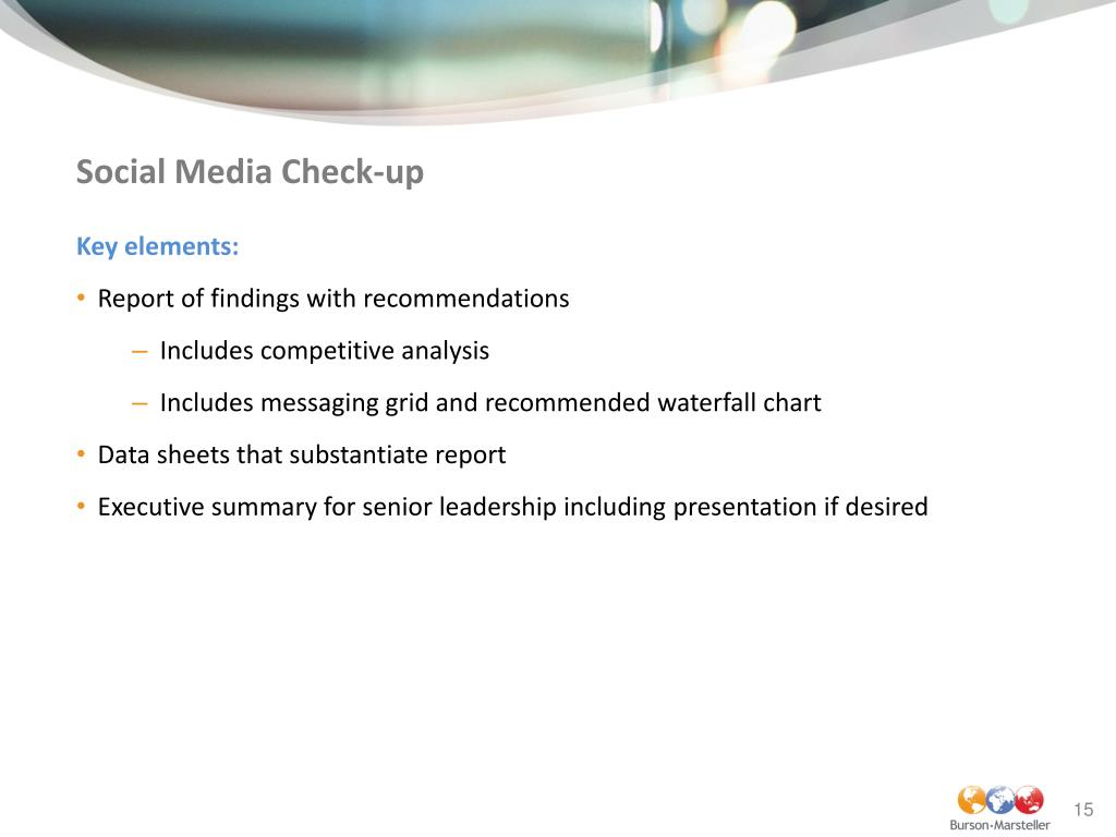 Social Media Check-up