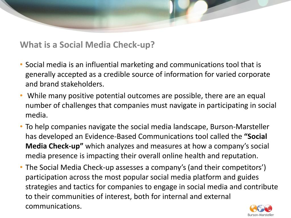 What is a Social Media Check-up?