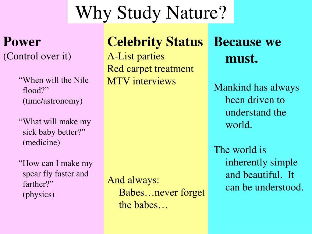 Why Study Nature?