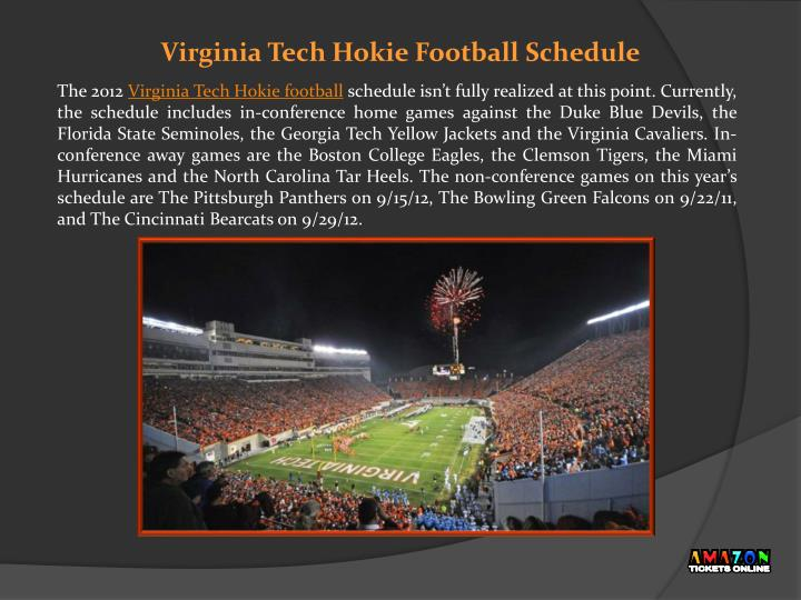 Virginia tech hokie football schedule