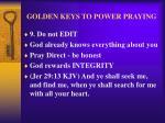 golden keys to power praying12
