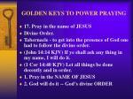 golden keys to power praying20