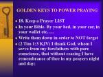 golden keys to power praying21