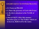 golden keys to power praying24
